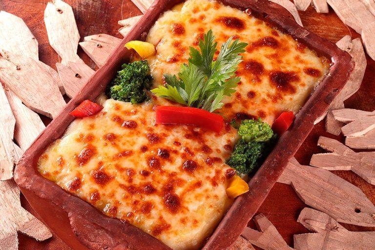 Prato Vegetariano - Peixe na Telha